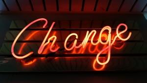 CHANGEというサイン